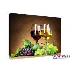 Бокалы вина - Модульная картины, Репродукции, Декоративные панно, Декор стен