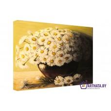 Картина на холсте по фото Модульные картины Печать портретов на холсте Букет ромашек