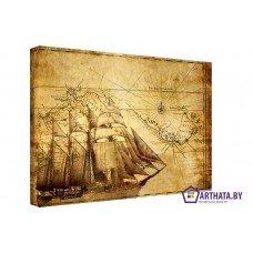 Картина на холсте по фото Модульные картины Печать портретов на холсте Морской путь