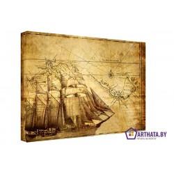 Фото на холсте Печать картин Репродукции и портреты - Морской путь