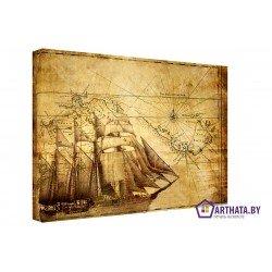 Морской путь - Модульная картины, Репродукции, Декоративные панно, Декор стен