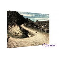 Дорога в горы - Модульная картины, Репродукции, Декоративные панно, Декор стен