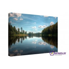 Картина на холсте по фото Модульные картины Печать портретов на холсте Голубые озера