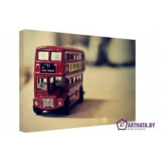 Картина на холсте по фото Модульные картины Печать портретов на холсте Английский автобус