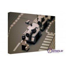 Картина на холсте по фото Модульные картины Печать портретов на холсте Лего-парад