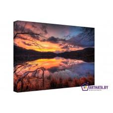 Картина на холсте по фото Модульные картины Печать портретов на холсте Мертвое озеро