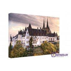 Картина на холсте по фото Модульные картины Печать портретов на холсте Замок в горах