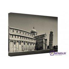 Картина на холсте по фото Модульные картины Печать портретов на холсте Пизанская башня