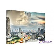 Картина на холсте по фото Модульные картины Печать портретов на холсте Мегаполис