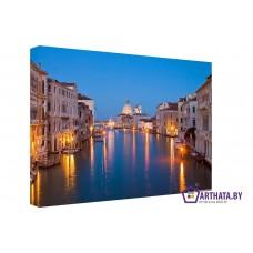 Картина на холсте по фото Модульные картины Печать портретов на холсте Ночная Венеция