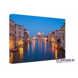 Ночная Венеция  - Модульная картины, Репродукции, Декоративные панно, Декор стен
