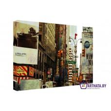 Картина на холсте по фото Модульные картины Печать портретов на холсте Ретро Бродвей