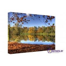 Картина на холсте по фото Модульные картины Печать портретов на холсте Осення тишина