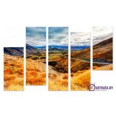 Картина на холсте по фото Модульные картины Печать портретов на холсте Осень в горах