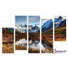 Картина на холсте по фото Модульные картины Печать портретов на холсте Холодная вода