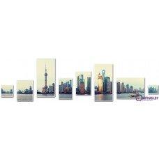 Картина на холсте по фото Модульные картины Печать портретов на холсте Город на воде