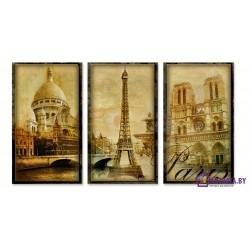 Столица Франции - Модульная картины, Репродукции, Декоративные панно, Декор стен