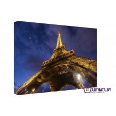 Картина на холсте по фото Модульные картины Печать портретов на холсте Под небом Парижа