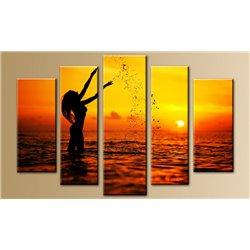 Модульная картина на стекле - 5m-017 - Модульная картины, Репродукции, Декоративные панно, Декор стен