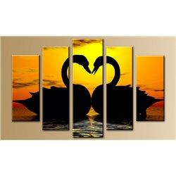 Модульная картина на стекле - 5m-024 - Модульная картины, Репродукции, Декоративные панно, Декор стен