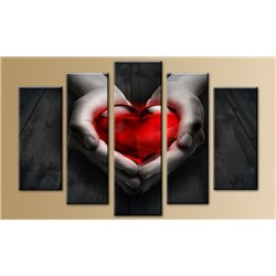 Модульная картина на стекле - 5m-025 - Модульная картины, Репродукции, Декоративные панно, Декор стен