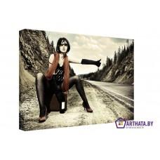 Картина на холсте по фото Модульные картины Печать портретов на холсте Автостоп