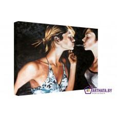 Картина на холсте по фото Модульные картины Печать портретов на холсте Воздушный поцелуй