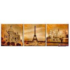 Картина на холсте по фото Модульные картины Печать портретов на холсте Зданий Парижа