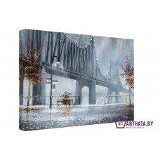 Картина на холсте по фото Модульные картины Печать портретов на холсте Металический мост