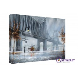 Фото на холсте Печать картин Репродукции и портреты - Металический мост