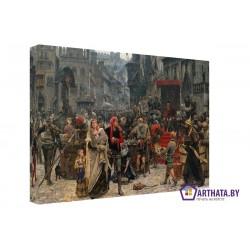 Фото на холсте Печать картин Репродукции и портреты - Встреча короля