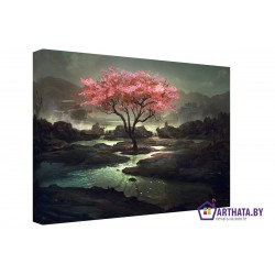 Волшебное дерево - Модульная картины, Репродукции, Декоративные панно, Декор стен