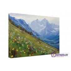 Картина на холсте по фото Модульные картины Печать портретов на холсте Живописный луг