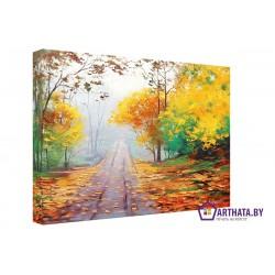 Фото на холсте Печать картин Репродукции и портреты - Осенняя дорожка