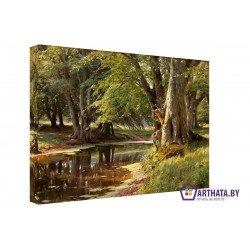 Лесная река - Модульная картины, Репродукции, Декоративные панно, Декор стен