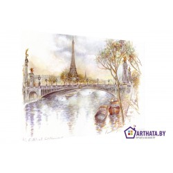 Париж в картинках - Модульная картины, Репродукции, Декоративные панно, Декор стен