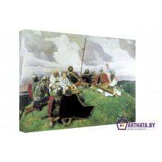 Картина на холсте по фото Модульные картины Печать портретов на холсте Воины