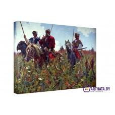 Картина на холсте по фото Модульные картины Печать портретов на холсте Казаки