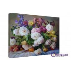 Картина на холсте по фото Модульные картины Печать портретов на холсте Персики