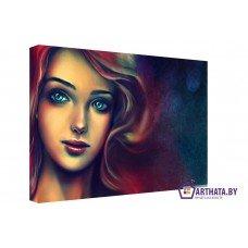 Картина на холсте по фото Модульные картины Печать портретов на холсте Русалка