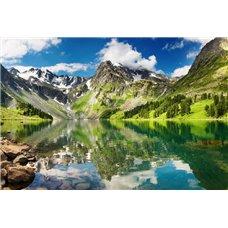Картина на холсте по фото Модульные картины Печать портретов на холсте Горы вокруг озера - Фотообои природа|озера