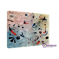 Картина на холсте по фото Модульные картины Печать портретов на холсте Joan Miro_001