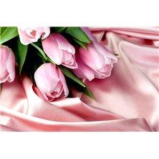 Картина на холсте по фото Модульные картины Печать портретов на холсте На шелковой ткани - Фотообои цветы тюльпаны