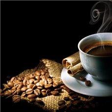 Картина на холсте по фото Модульные картины Печать портретов на холсте Чашка кофе с корицей - Фотообои Еда и напитки кофе