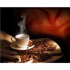 Картина на холсте по фото Модульные картины Печать портретов на холсте Чашка с кофе - Фотообои Еда и напитки кофе