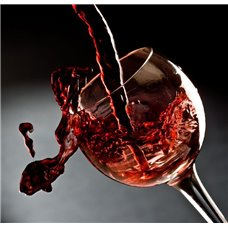 Картина на холсте по фото Модульные картины Печать портретов на холсте Бокал красного вина - Фотообои Еда и напитки вино