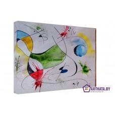 Картина на холсте по фото Модульные картины Печать портретов на холсте Joan Miro_006