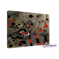 Фото на холсте Печать картин Репродукции и портреты - Joan Miro_009