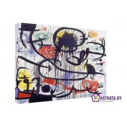 Joan Miro_012 - Модульная картины, Репродукции, Декоративные панно, Декор стен