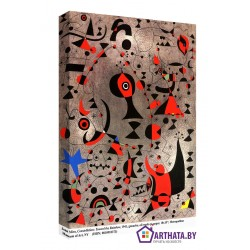 Фото на холсте Печать картин Репродукции и портреты - Joan Miro_013